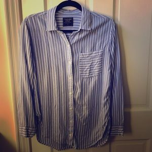 Striped button up shirt